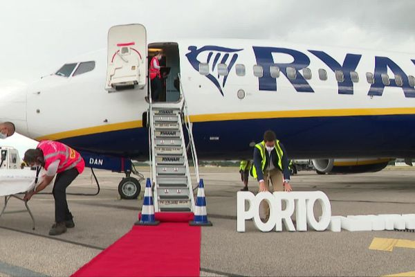 Inauguration en grande pompe de la ligne saisonnière Grenoble/Porto ce lundi 3 août