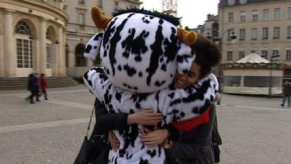 Opération free hug à Rennes