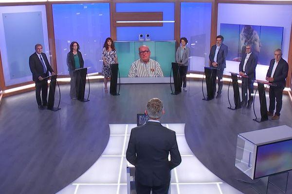 Les candidats débattent sur l'avenir de la Dordogne le 14 juin 2021 sur France 3 Aquitaine