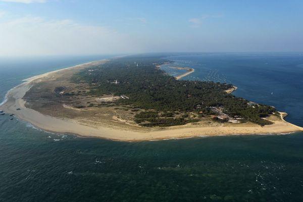 Vue aérienne du Cap Ferret