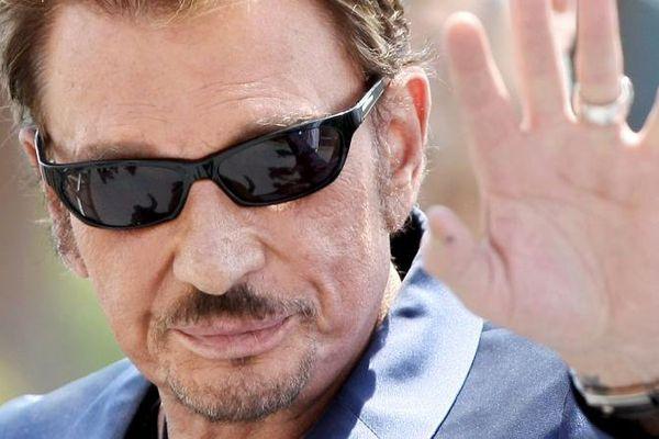 Johnny Hallyday, le 17 mai 2009, à Cannes.
