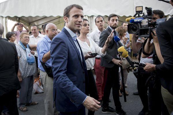 Emmanuel Macron est venu à la foire de Châlons-en-Champagne. le 1er Septembre 2016. L'ancien ministre de l'économie n'était pas encore Président de la République !
