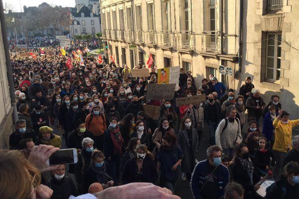 A Vannes, plus d'un millier de manifestants ont défilé