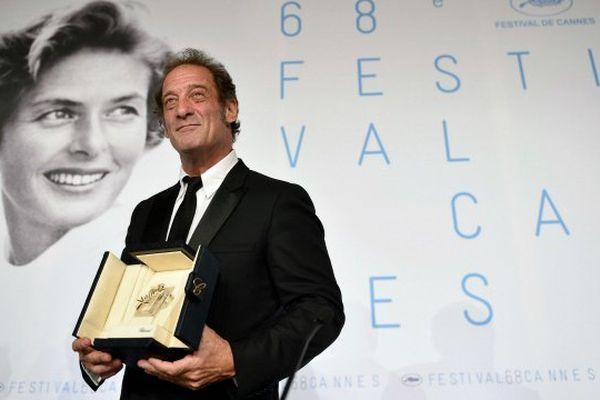 Vincent Lindon reçoit le prix d'interprétation au festival de Cannes