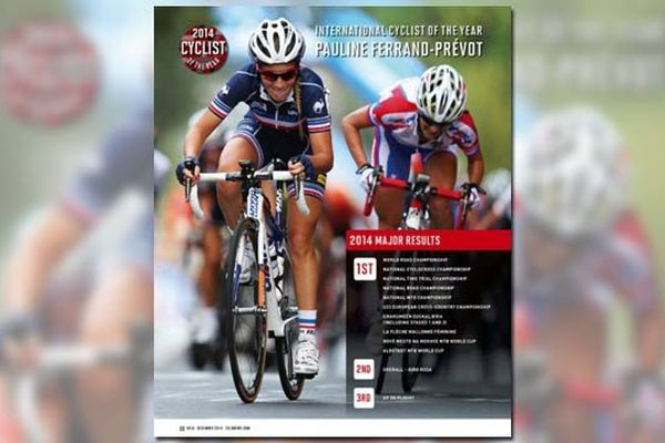 Pauline Ferrand Prevot, élue cycliste internationale de l'année 2014 par la revue américaine VeloNews.