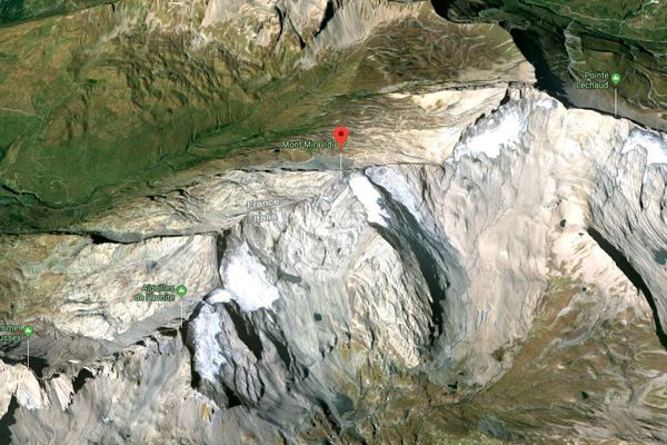 Le mont Miravidi où a eu lieu l'accident