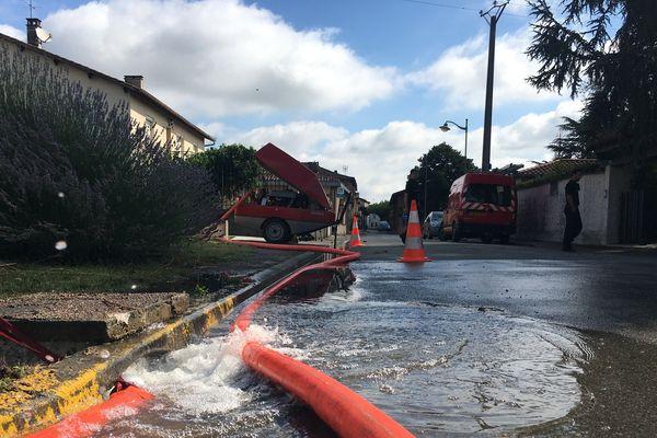 Des routes ont été inondées dans le Tarn-et-Garonne, à Albias et Réalville, suite aux orages de ce mardi 9 juillet, dans la soirée.
