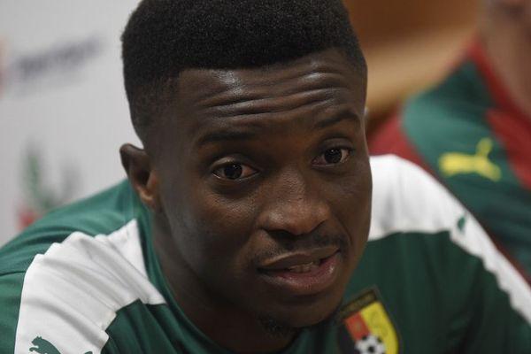 Benjamin Moukandjo avec le Cameroun en août 2017.