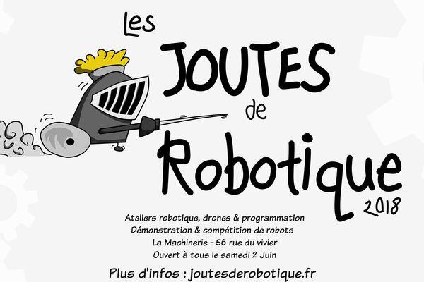 """Affiche officiel des """"Joutes robotiques"""""""