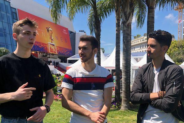 Leur première fois à Cannes (de gauche à droite)  : Maxime Roedel (22 ans), Thomas Andrzeczyk (20 ans) et Florian Lidin (20 ans), fondateurs de l'agence Pictural Things