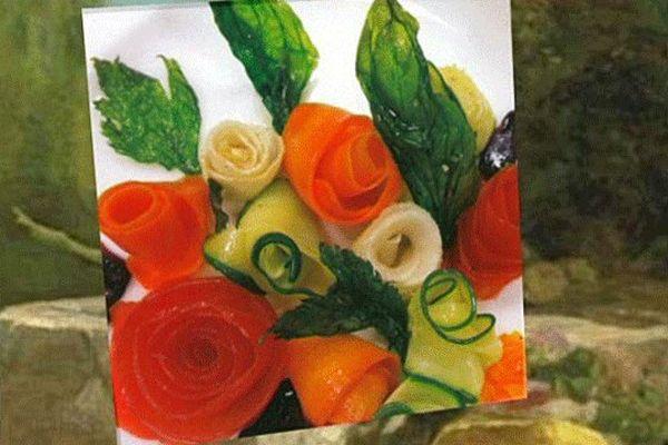 """L'un des plats confectionnés par les élèves pour """"le Goût et la Couleur"""" dans le cadre du festival Normandie Impressionniste"""
