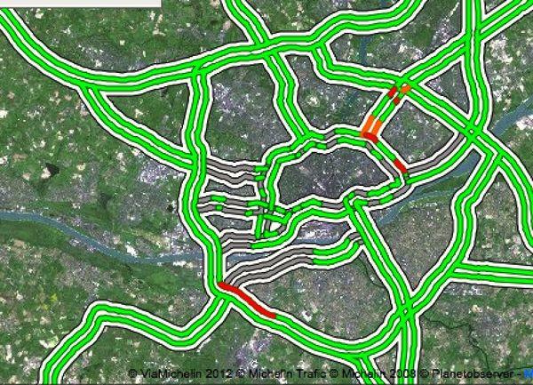 Le trafic à Nantes à 13H40