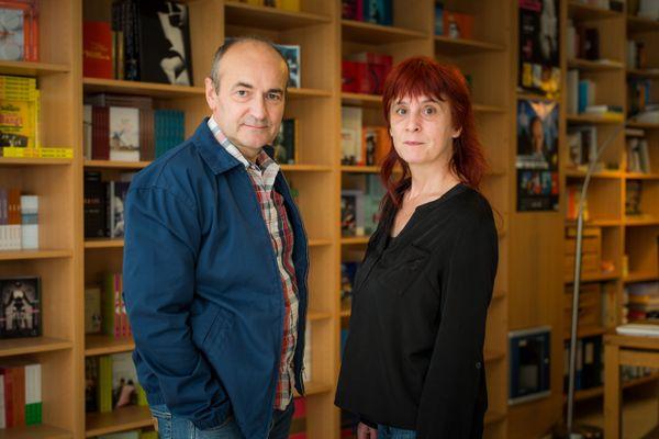 Jean-Hubert Gailliot et Sylvie Martigny fondateurs et directeurs des Editions Tristram dans leurs bureaux à Auch.