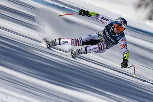 Le skieur français Alexis Pinturault lors du combiné de Cortina d'Ampezzo pour la Coupe du monde de ski alpin, le 15 février 2021.