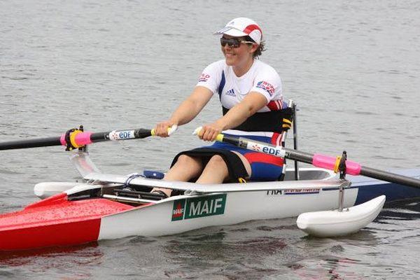Nathalie Benoit lors du championnat du monde 2010, Karapiro en Nouvelle Zélande.