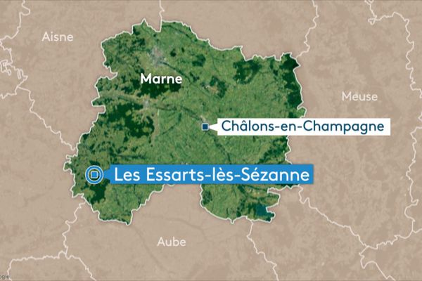 Carte Les Essarts-lès-Sézanne