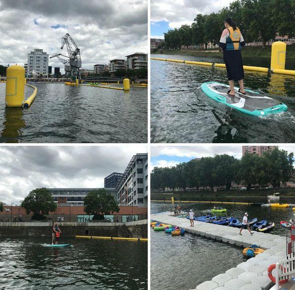 Pédalos, kayaks et pour la première fois padels électriques à disposition des Strasbourgeois tout l'été