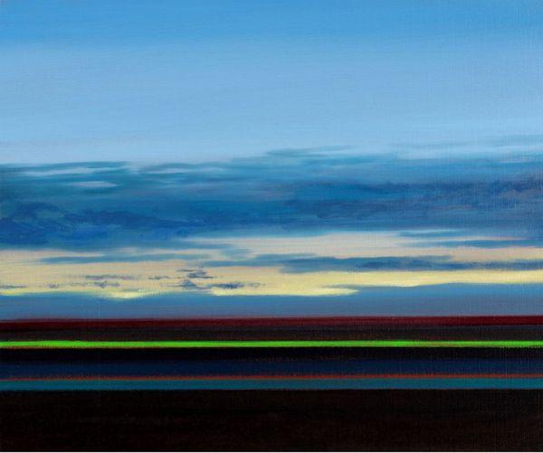 Olivier Masmonteil, Paysage, 2019. Huile sur toile, 38 x 46 cm. ©Tous droits réservés.