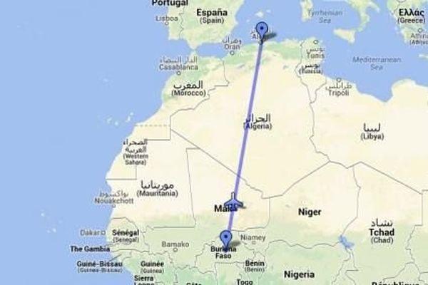 Le vol AH 5017 Air Algérie devait relier Ouagadougou à Alger.