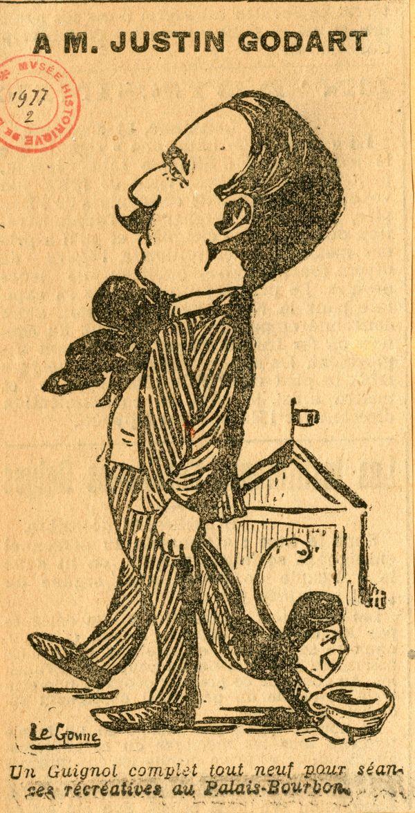Un caricature du député Justin Godart en 1913