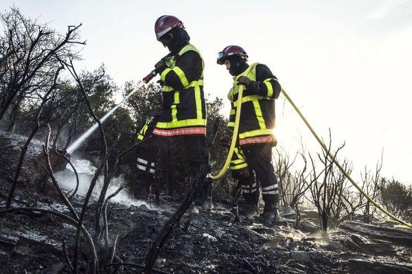 Les pompiers des Pyrénées-Orientales interviennent ce mardi matin pour un incendie à Millas - 21 août 2018