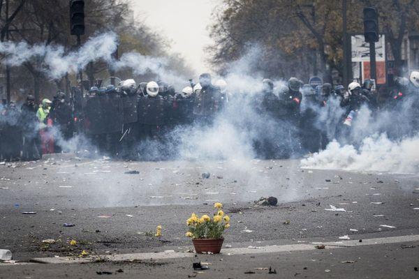 Elyxandro Cegarra a couvert beaucoup de manifestations, comme celle des gilets jaunes à Paris le 5 décembre 2019.