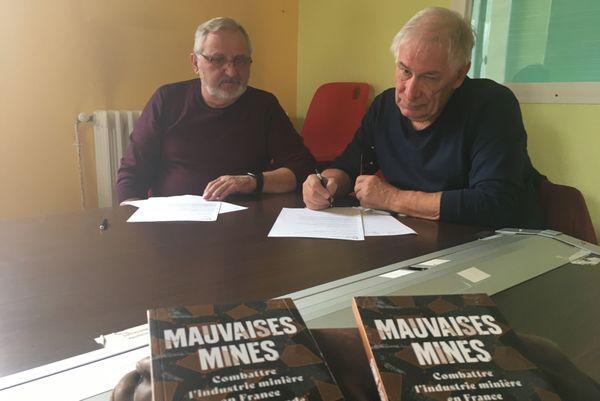 Loris Ravasio et Bernard Glanois. Collectif de défense des bassins miniers