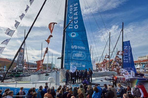 Le Time for Oceans, le voilier de Stéphane Le Diraison et François Guiffant.
