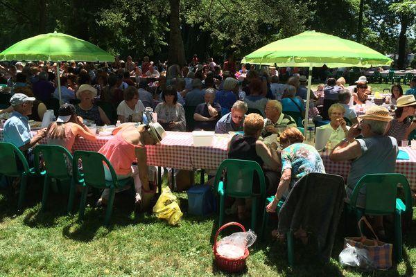 1 400 personnes participent, dimanche, au pique-nique géant organisé au parc des Bourins à Vichy (Allier).
