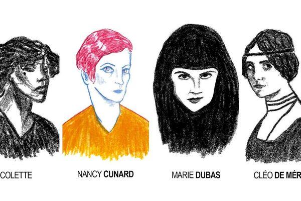 """Les """"femmes du Père Lachaise, par Camille Paix."""