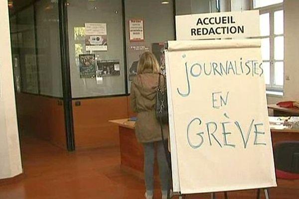 Montpellier - grève au quotidien Midi Libre - 26 novembre 2013.