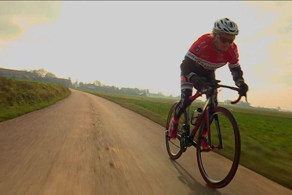 Martine Savary, championne du monde de cyclisme sur route