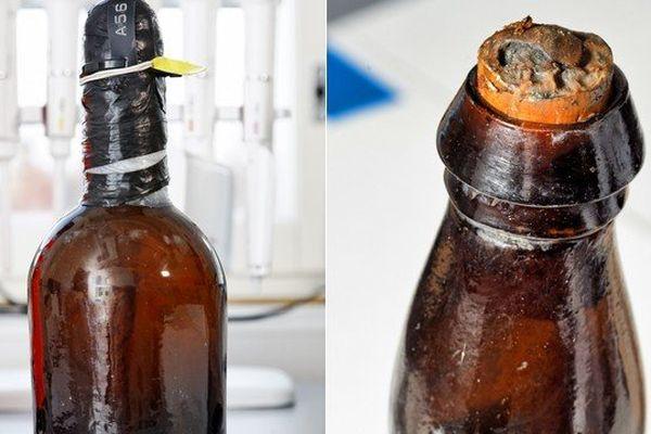 Ces bouteilles de bière ont été retrouvées dans une épave qui a fait naufrage en 1843.