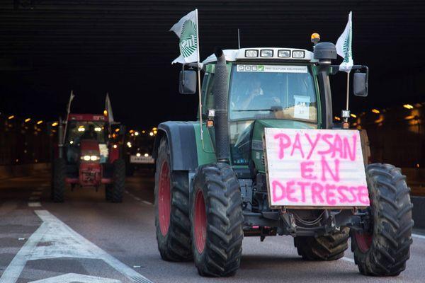 Manif d'agriculteurs à Paris.