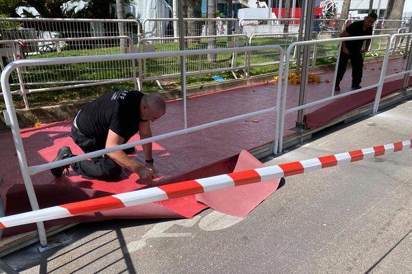 Une diminution de 50% du volume du tapis rouge utilisé, déjà intégralement recyclable et recyclé cette année à Cannes.