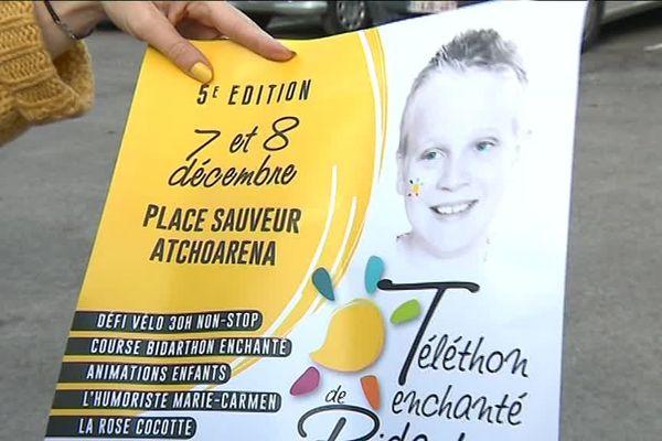 Affiche du Téléthon de la Mobilisation pour Timothée à Bidart.