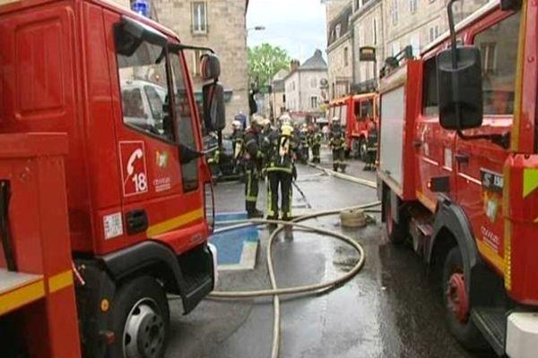 Un incendie s'est déclaré dimanche 9 juin 2013 rue Saint-Jean à Brive-la-Gaillarde