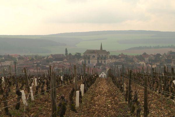 Le village de Coulanges-la-Vineuse (Yonne).
