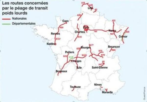 Carte Ecotaxe Ouest France