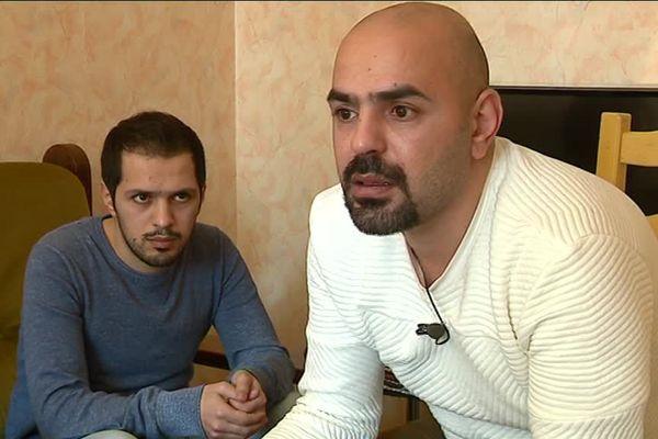 Issam (en arrière plan) et Bassel Zarour au Havre