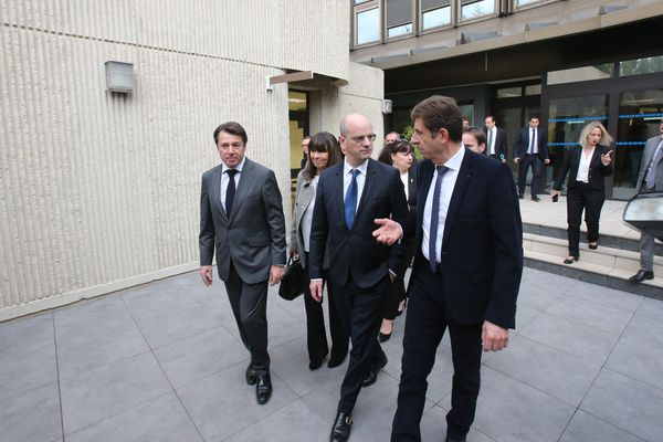 26 janvier 2018 - Visite du Ministre de l'éducation Nationale, Jean-Michel Blanquer au Rectorat de l'académie de Nice.