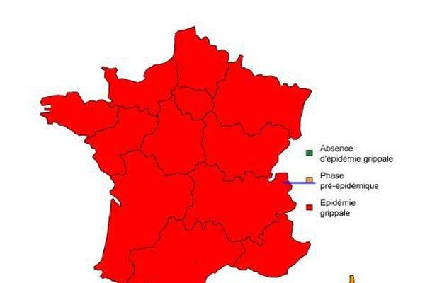La grippe atteint désormais toutes les régions de France