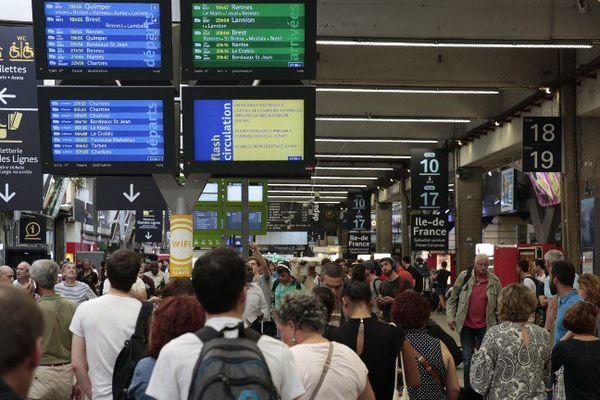 La gare Montparnasse avait déjà été touchée par une panne électrique le 17 juillet dernier.