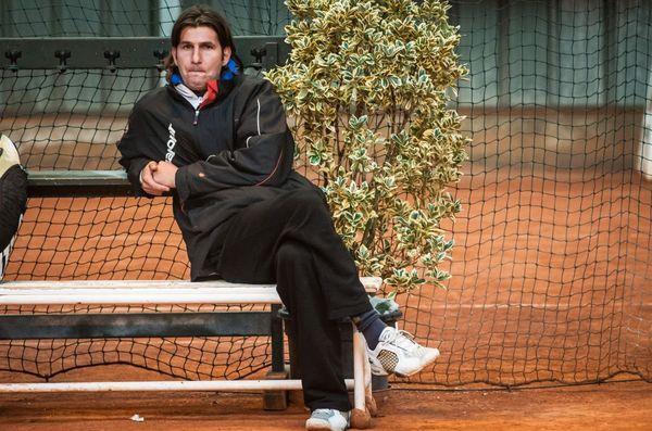 Le joueur de tennis dijonnais Jérôme Golmard le 6 avril 2014