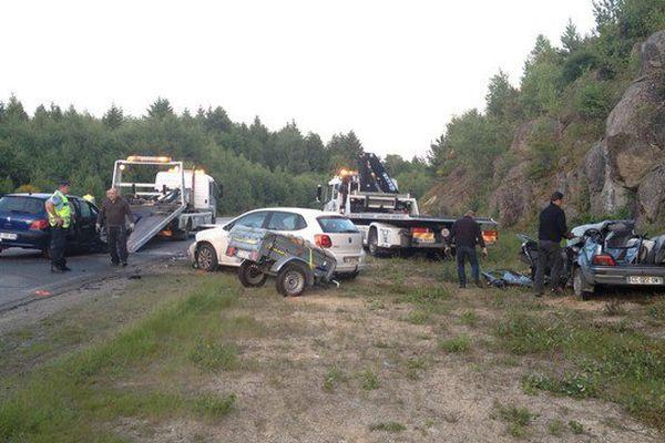 Trois véhicules ont été impliqués dans ce dramatique accident