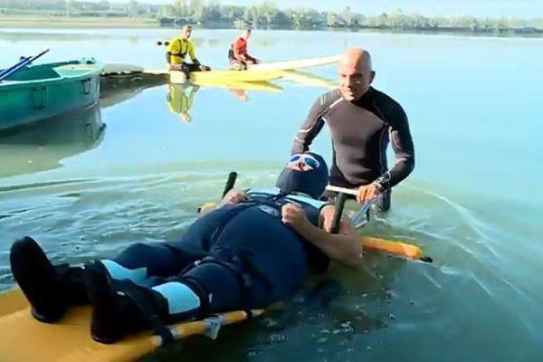 Entrée dans de l'eau à 15 degrés pour le début de cette session d'entraînement.