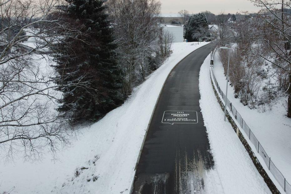 Corrèze : premiers essais concluants pour la route anti-verglas d'Égletons cet hiver