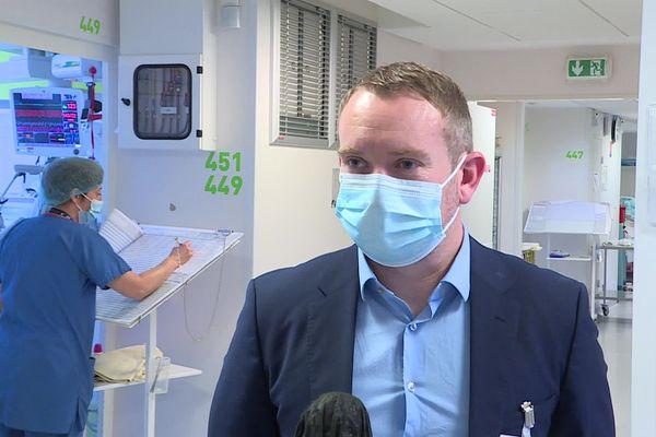 Florent Cavelier, secrétaire général du centre hospitalier universitaire de Dijon.