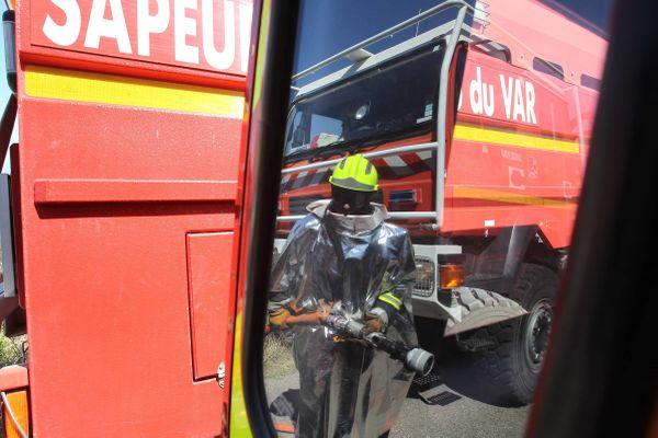 Les pompiers du Var lors d'un exercice.