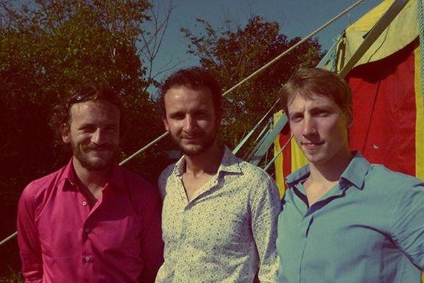 Nicolas, Alex et Pierre du groupe rock Blondstone présent lors de l'édition 2014 du JDM